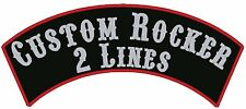 """12"""" Custom Embroidered Top Rocker Patches Biker Sew on"""