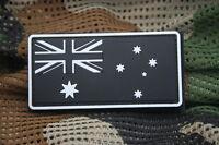 Australian Flag Patch Sew/Stitch On Badge w/hook and loop back L8cm glow-in-dark
