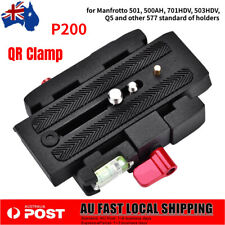 P200 Quick Release Clamp Adapter Base Station QR Plate for Manfrotto 501 500ah