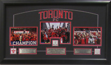 Toronto FC 16x30 Trifecta Trophies Row Framed Pictures Plaque 2017 MLS Champions