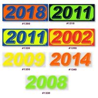 Dealer Windshield Highlight Model Year Stickers - multiple options