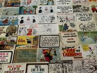 BIG LOT of 100~COMIC POSTCARDS~HUMOR JOKES & GREETINGS~FUNNY~UNUSED--b11