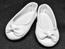 White Flat Ballet Doll Shoes for 1/4 MSD BJD Minifee Resinsoul Withdoll