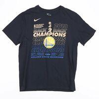 NIKE Black 2018 NBA Golden State Warriors Champs T-Shirt Mens Size Large