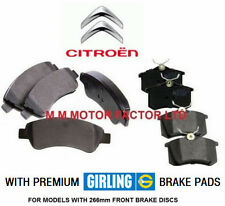 CITROEN DS3 1.4 1.6 HDi 16v (09-) FRONT & REAR BRAKE DISC GIRLING PADS SET