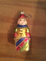 Jack in the Box Krebs Blown Glass Painted Ornament Vintage Christmas Germany