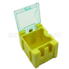 10 x Yellow Mini Composable Electronic Component Parts Storage Case Box Smt Smd