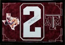 Johnny Manziel Signed Autographed Jersey Number Texas A&M Cleveland 16x24 JSA