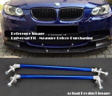 """2 Pcs Blue 9.5"""" Bumper Lip Diffuser Splitter Spoiler Struts Rod Bar for Mercedes"""