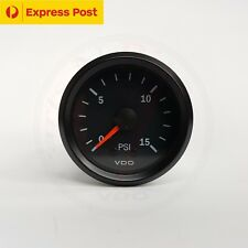 VDO 52mm 15 PSI BOOST GAUGE AUTOMOTIVE 4WD BRAND NEW...!