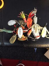 GRANDPAS TACKLE BOX GIANT PILE SALMON STEELHEAD SPINNERS SPOONS