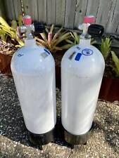 Faber 12.2 litre steel scuba tanks