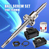 Antibacklash Ball Screw SFU1605 L200mm-750mm & BK12 BF12 + 6.35x10mm Coupler Set