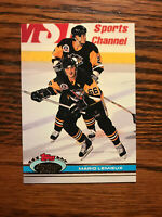 1991 Topps Stadium Club #174 Mario Lemieux Hockey Card Pittsburgh Penguins Raw
