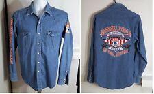 RARE VTG Wrangler NFR Rodeo Denim Shirt 36th Anniversary LAS Vegas LARGE L USA