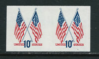 SCOTT 1519a 1973 10 CENT CROSSED FLAGS ISSUE IMPERF PAIR MNH OG VF CAT $35!