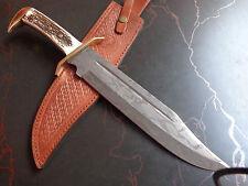 Custom Damascus Survival Tracker Knives Bear Skinner Hunter ONE OF A KIND C8