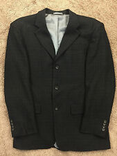 Oscar de La Renta Charcaol Gray Sport Coat 42 R 100% Wool Excellent three button