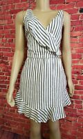 Guess LA Size Medium M Retro Striped Sleeveless Mini Ruffle Dress Summer