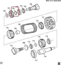 Transfer Case Output Shaft Snap Ring ACDelco GM Original Equipment 88984493