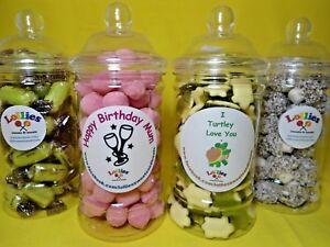 Personalised Sweet Jar Filled Birthday Present Christmas Wedding Anniversary