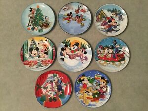 Walt Disney Characters Christmas Plates by Schmid - Set of 8 (1983-1990)