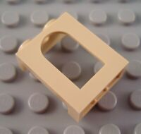 New LEGO Tan 1x2x2 Castle Window Part