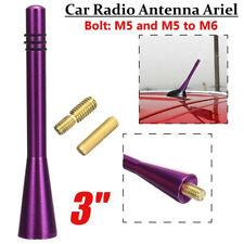"3"" Car Antenna Ariel Stubby Bee Sting Mast Roof Arial FM Radio Aluminum Purple"