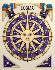 Celestial Sun Zodiac Art Print