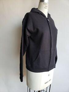 Hanes Eco Smart Hoodie, Black, Size Youth XL, Zip Up Sweatshirt