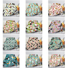 Floral Dog Blanket Corgi Dachshund Printed Soft Flannel Fleece Throw Blankets