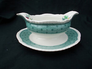 Ridgway PLYMOUTH. Gravy Tureen with fixed stand.