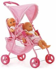 Hauck Double Twin Tandem Doll Stroller Folding Pink Two Seater 2 Baby Child Size