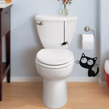 Cat and Spider Toilet Sticker Mural decals For house decoration Wall Sticker RAC