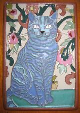 Art Deco Arts and Crafts blue Siamese CAT tile Cat Lovers