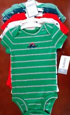 Carter's Baby Boys Short Slv Bodysuits set of 5 Dinosaurs and Stripes 3 Months