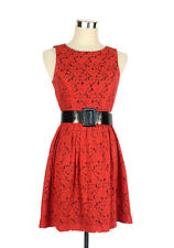 REVIEW Dress- Red Lace/Black 1950s Vintage Retro Rockabilly Style Sleeveless - 6