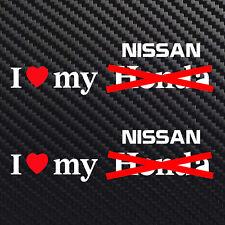 I love my Nissan decal sticker heart for Nissan Spec V Sentra Altima Sr20de se-r