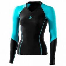 Original SKINS Bio Sport maillot compression  femme noir bleu  S neuf