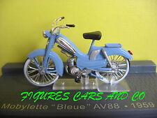 1/24 MOTO CLASSIQUE  MOTOBECANE MOBYLETTE BLEUE  49cc 1959  MOTORCYCLE