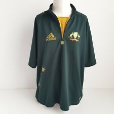 Adidas Cricket Australia Jersey Mens Xl Odi One Day Short Sleeve 1/4 Zip Green