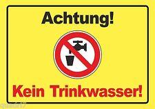 Kein Trinkwasser - ALU- oder PVC-Schild oder Klebeschild, 3 Formate zur Auswahl!