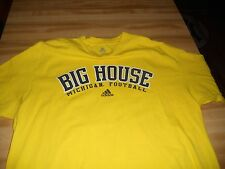 ADDIDAS MIGHIGAN YELLOW TWO SIDED T SHIRT SIZE LARGE VERY NICE