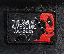THIS IS WHAT Awesome Looks Like DEADPOOL TACTICAL MORALE PATCH (red/blk)