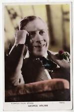 GEORGE ARLISS - Cinema / Film / Movie Actor - 1935 used Real Photo postcard