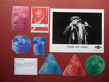 RICKIE LEE JONES,promo photo,8 RARE original Backstage passes