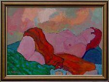 Abstrakter Expressionismus Ernst Fermen *1947 verzeichnet - liegender Akt xxxxxx