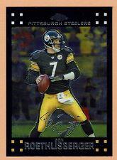 2007 Topps Chrome Football #TC62 Ben Roethlisberger Pittsburgh Steelers NMT