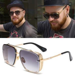Oversized Square Aviators Sunglasses Pilot Metal Bar Mens Designer Fashion UV400