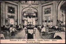 cartolina MILANO giardini pubblici-ristorante di I ordine montemerlo